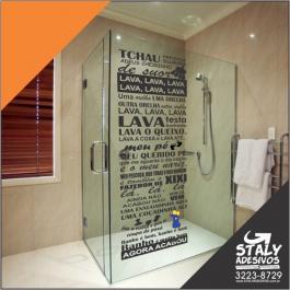 Adesivo Box de banheiro Ratinho do Castelo Rá-Tim-Bum Vinil 50x150  Brilho