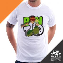 Camiseta Adulto Poliester Branca Impressão 20x30 4x1