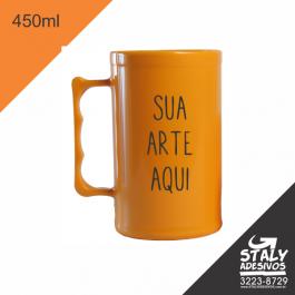 Caneca  Amarelo Fechado =Acrilico  1x0  =Brilho =450ml