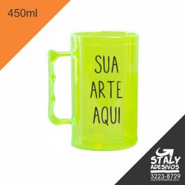 Caneca Verde Neon =Acrilico  1x0  =Brilho =450ml