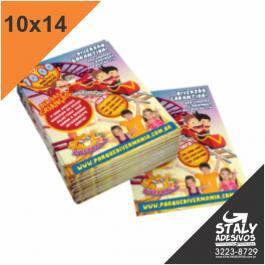 Folders / Panfletos 10X14 Couchê 10X14  Sem verniz Corte Reto