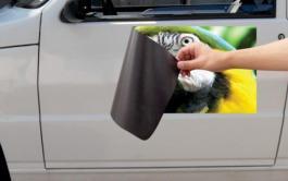 Imã para Carro Impressão no vinil + manta magnética  4x0 Brilho Sem acabamento  / Sem refile