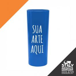 Long Drink Azul Fechado Acrilico  1x0  Brilho 350ml