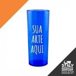 Long Drink Azul Transparente =Acrilico  1x0  =Brilho =350ml