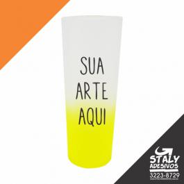 Long Drink Degradê Amarelo Acrilico  1x0  Brilho 340ml