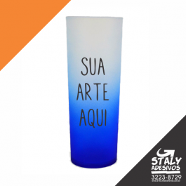 Long Drink Degrade Azul Acrilico  1x0  Brilho 340ml