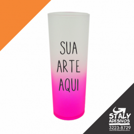 Long Drink Degrade Rosa Acrilico  1x0  Brilho 340ml