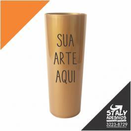 Long Drink Dourado Acrilico  1x0  Brilho 350ml