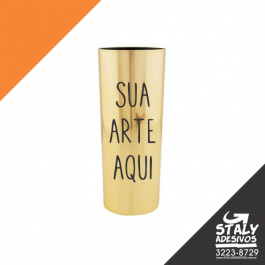 Long Drink Metalizado Dourado Acrilico  1x0 Metalizado Dourado Brilho 340ml