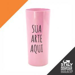 Long Drink Rosa Bebê Acrilico  1x0  Brilho 350ml