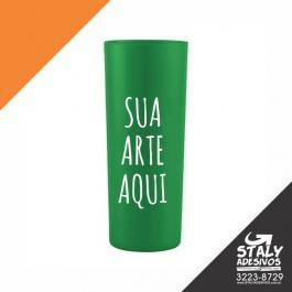 Long Drink Verde Bandeira Acrilico  1x0  Brilho 350ml