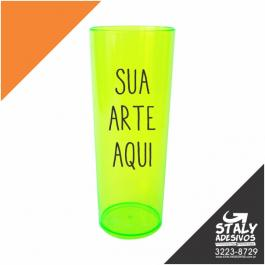 Long Drink Verde Neon Acrilico  1x0  Brilho 350ml