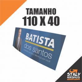 Perfurado Politica 110X40 Vinil 110X40 4x0  Corte Reto