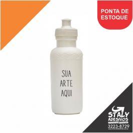 Squeeze 500ml Plástico  4x0 Branca Brilho 500ml