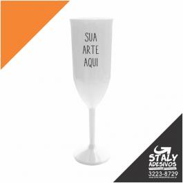 Taça Champanhe Branca Acrilico Poliestireno  1x0  Brilho 200ml