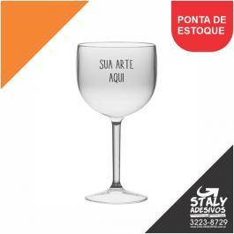 Taça Gin Transparente Acrilico Poliestireno  1x0  Brilho 550ml